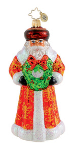 RADKO 1015289 GRANDFATHER CHRISTMAS - SANTA WITH WREATH - NEW 2011 (Q8)