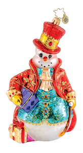 RADKO 1015293 FANCY FELLA - ELEGANT SNOWMAN - NEW 2011 (Q9)