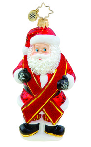 RADKO 1015711 CHARITY CLAUS - AIDS AWARENESS - SANTA - NEW 2011 (11-1)