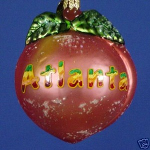 RADKO 3011269 LIFE'S A PEACH IN ATLANTA - GEORGIA - RETIRED ORNAMENT (U)