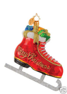 RADKO 1014443 GIFT FILLED GLIDER - ICE SKATE - RETIRED ORNAMENT (G2)