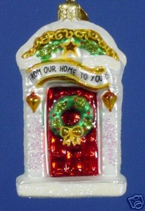 RADKO 1013472 GEORGIAN GREETINGS GEM - FROM OUR HOME TO YOURS - 2 SIDED - RETIRED ORNAMENT (14)
