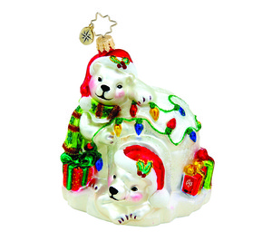 RADKO 1015506 PRETTY POLAR CHATEAU - PALOR BEARS - IGLOO - ANIMAL ORNAMENT - NEW 2011 (11-6)
