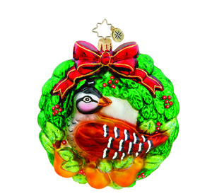 RADKO 1015443 PARTRIDGE PEAR WREATH - FIRST DAY OF CHRISTMAS ORNAMENT - NEW 2011 (11-6)