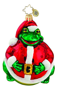 RADKO 1015763 SANTA TOAD - FROG IN SANTA SUIT ORNAMENT - NEW 2011 (11-6)