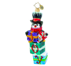 RADKO 1015544 PENNY PERCH - PENGUIN ON PRESENTS - JOY - NEW 2011 (11-2)