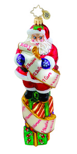RADKO 1015554 LIST TWIST - SANTA WITH LIST - NEW 2011 (11-2)