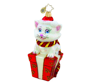 RADKO 1015418 SANTA CLAWS - CAT WITH PRESENT - NEW 2011 (11-3)