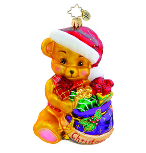 RADKO 1015490 CHRISTMAS CHEER - BEAR WITH PRESENTS - BABY'S FIRST - NEW 2011 (11-3)