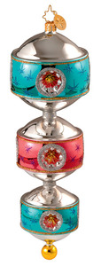 RADKO 1013241 THREE-TIER TWINKLE - GERMAN MASTER CRAFTSMAN - ROUND - RETIRED ORNAMENT (Y)