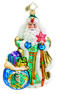 RADKO 1015559 POSEIDON'S PRESENTS - DEEP SEA SANTA WITH GIFTS ORNAMENT - NEW 2011 (11-4)