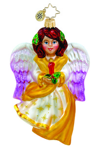 RADKO 1015470 CANDLESTICK CHERUB - ANGEL WITH CANDLE ORNAMENT - NEW 2011 (11-8)