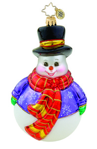 RADKO 1015772 ROLLY THE SNOWMAN - JOLLY SNOWMAN ORNAMENT - NEW 2011 (11-8)