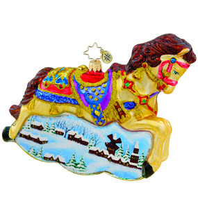 RADKO 1015541 TWILIGHT DREAMS - HORSE WITH PAINTED SCENE - NEW 2011 (11-4)