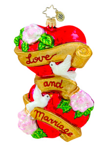 RADKO 1015420 LOVE AND MARRIAGE - WEDDING - HEARTS - NEW 2011 (11-2)