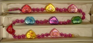 RADKO 1011490 SWEET SOMETHINGS GARLAND - VALENTINE - HEARTS - RETIRED