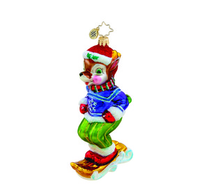 RADKO 1015450 SNOW DASHER - SKIING REINDEER ONAMENT - NEW 2011 (11-2)