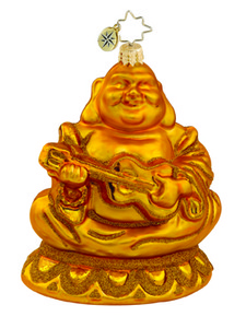 RADKO 1015473 BLISSFUL BUDDAH - GOLD BUDDAH ORNAMENT - NEW 2011 (11-8)