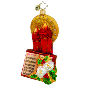 RADKO 1015655 MERRY MELODIES - CANDLES WITH HYMN BOOK ORNAMENT ORNAMENT - NEW 2011 (11-9)