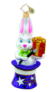 RADKO 1015460 ABRACADABRA - EASTER - MAGIC -  BUNNY RABBIT ORNAMENT - NEW 2011 (11-12)
