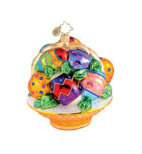 RADKO 1015312 EGGTASTIC! - BASKET OF EASTER EGGS ORNAMENT - NEW 2011 (11-13)