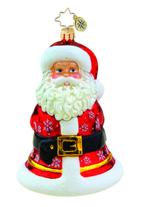 RADKO 1015487 CLAPPER CLAUS - SANTA BELL ORNAMENT - NEW 2011 (11-9)