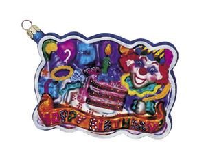 RADKO 01-0494-0 BIRTHDAY BASH - POSTCARD ORNAMENT - RETIRED (B)