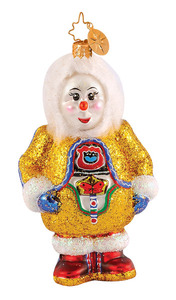 RADKO 1014583 JUNEAU ESKI SNOW - SNOWMAN - RETIRED ORNAMENT (G5)