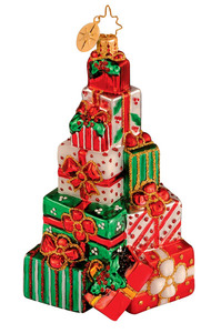 RADKO 1014228 ADUNDANT ALMS - STACK OF GIFTS ORNAMENT - RETIRED (G5)