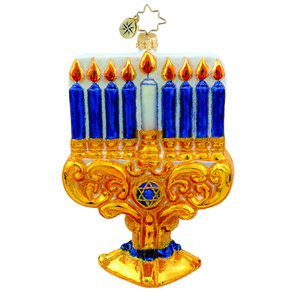 RADKO 1015730 MARVELOUS MENORAH - HANUKKAH ORNAMENT - NEW 2011 (11-10)