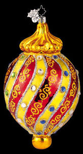 RADKO 1011558 HER MAJESTY'S ORB - JEWELED DROP - RETIRED ORNAMENT (PP)
