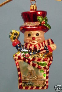 RADKO 3011620 SHOP N POP NJ - SNOWMAN EXCLUSIVE - RETIRED ORNAMENT (MM)
