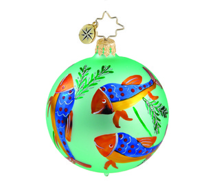 RADKO 1015893 DEEP SEA MINI - VINTAGE BALL AND DROP COLLECTION - BALL ORNAMENT - NEW 2011 (11-13)