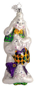 RADKO 1011910 PUNKY SHINES AGAIN - HALLOWEEN - 3 GHOSTS ORNAMENT - RETIRED 2005