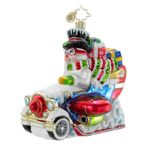 RADKO 1016135 CLOUDCUTTER - LIMITED EDITION 750 - SNOWMAN IN PLANE - NEW 2012 (12-1)