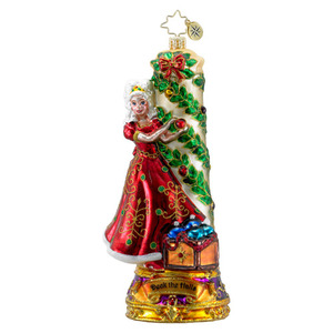 RADKO 1016308 DECK THE HALLS - CLASSIC CAROLS COLLECTION - MAIDEN DECORATING WITH HOLLY - NEW 2012 (12-1)