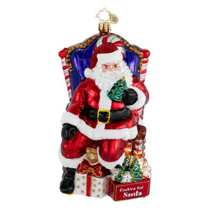 RADKO 1016038 COOKIES FOR SANTA - SANTA IN CHAIR - GIFT STORE EXCLUSIVE - NEW 2012 (12-2)