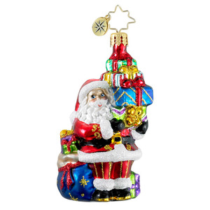 RADKO 1016196 TIP TOP CLAUS GEM - SANTA WITH GIFTS - NEW 2012 (20)