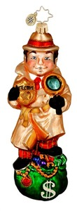 RADKO 1015938 DETECTIVE FRENCH - PRIVATE EYE ORNAMENT - NEW 2012 (11-16)