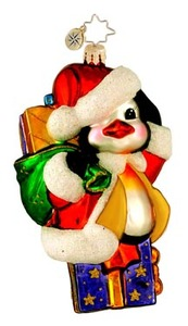 RADKO 1015921 AN ADORABLE ARRIVAL - PENGUIN ORNAMENT - NEW 2012 (11-16)