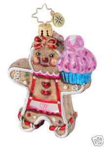 RADKO 1015057 SWEET TOOTH SWEET HEARTS GEM - GINGERBREAD MAN/GIRL - 2 SIDED - RETIRED ORNAMENT (18)