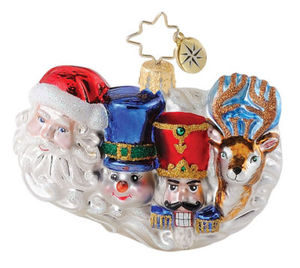 RADKO 1015080 MOUNT SNOWMORE GEM - SANTA - SNOWMAN - NUTCRACKER - REINDEER - RETIRED ORNAMENT (18)