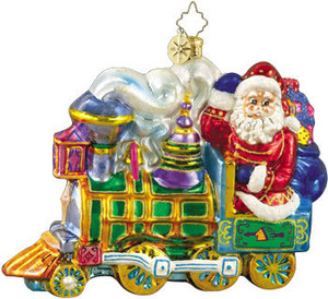 RADKO 1010154 EXPRESS TOYFARE - SANTA - TRAIN - RETIRED ORNAMENT (A)