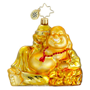 RADKO 1016136 GOLDEN SERENITY - BUDDHA ORNAMENT - NEW 2012 (12-9)