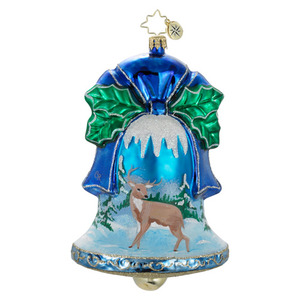 RADKO 1016148 SNOWFALL SERENITY - 2 SIDED BELL WITH PAINTED SCENES ORNAMENT - NEW 2012 (12-10)