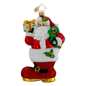 RADKO 1016165 KICKIN' CHRISTMAS - SANTA IN BOOT ORNAMENT - NEW 2012 (12-10)