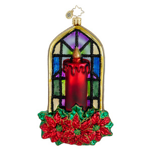 RADKO 1016231 LIGHT OF JOY - CANDLE & STAINED GLASS ORNAMENT - NEW 2012 (12-12)