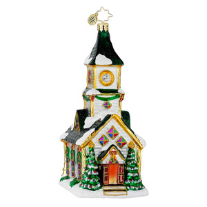 RADKO 1016235 ALL ARE WELCOME - CHURCH ORNAMENT - NEW 2012 (12-12)