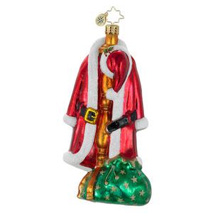 Radko 1015993 Hangin Around Santa S Coat Amp Hat Ornament
