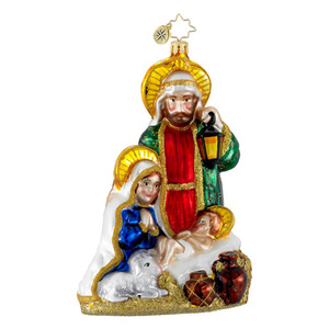RADKO 1016082 HEAVENLY FAMILY - JOSEPH, MARY & JESUS - RELIGIOUS ORNAMENT - NEW FOR 2012 (12-7)
